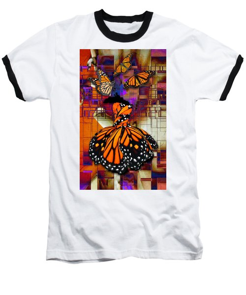 Baseball T-Shirt featuring the mixed media Dreaming Of Flying High by Marvin Blaine