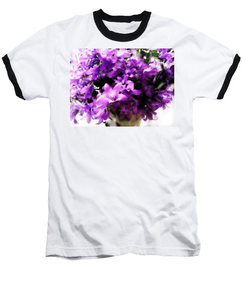 Dreamy Flowers Baseball T-Shirt by Gabriella Weninger - David
