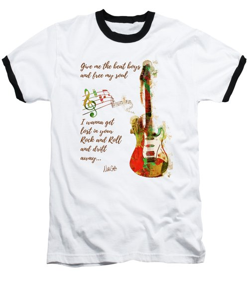 Drift Away Baseball T-Shirt by Nikki Marie Smith