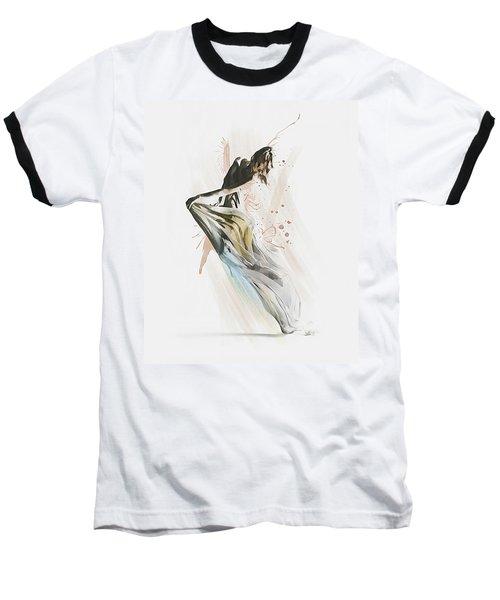Baseball T-Shirt featuring the digital art Drift Contemporary Dance by Galen Valle