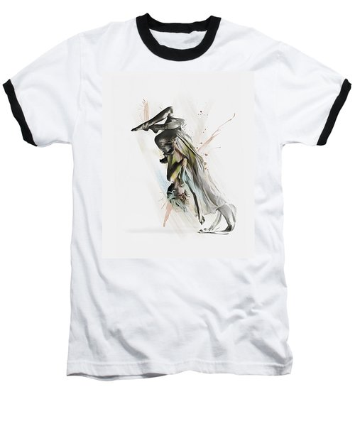 Baseball T-Shirt featuring the digital art Drift Contemporary Dance Two by Galen Valle