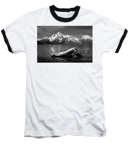 driftwood and Mt. Moran Baseball T-Shirt