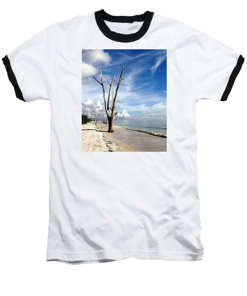 Baseball T-Shirt featuring the photograph Driftwood At Lovers Key State Park by Janet King