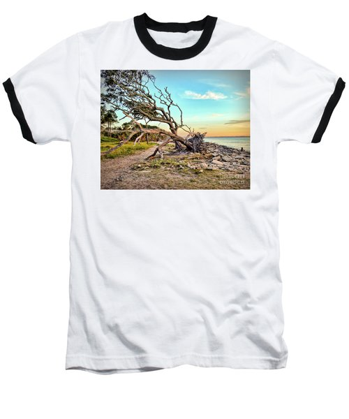 Driftwood Beach Morning 2 Baseball T-Shirt