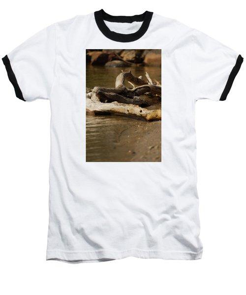 Baseball T-Shirt featuring the photograph Driftwood by Ramona Whiteaker