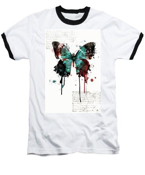 Dripping Butterfly Baseball T-Shirt
