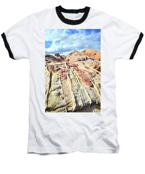Dripping Color In Valley Of Fire Baseball T-Shirt by Ray Mathis