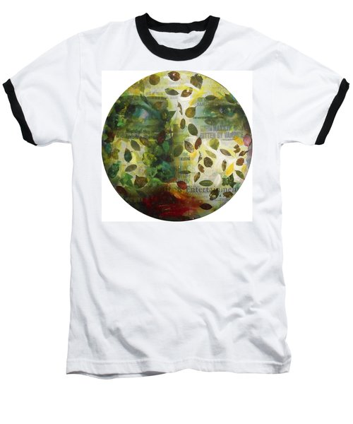 Baseball T-Shirt featuring the painting Dripping Souls by Alfredo Gonzalez