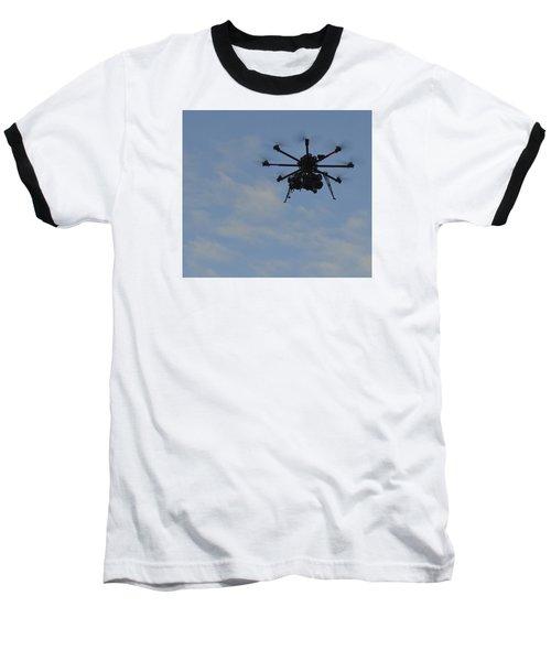 Drone Baseball T-Shirt by Linda Geiger