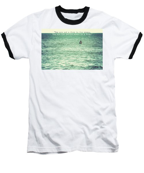 Drop In The Ocean Surfer Vintage Baseball T-Shirt by Terry DeLuco