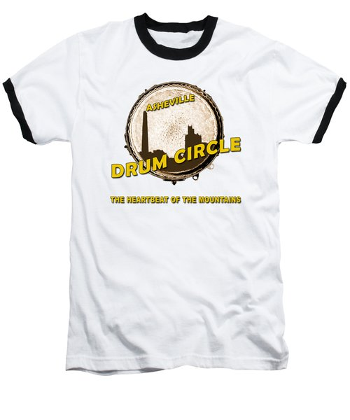Drum Circle Logo Baseball T-Shirt