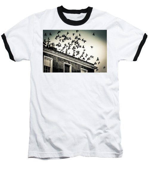 Flight Over Oscar Wilde's Hood, Dublin Baseball T-Shirt
