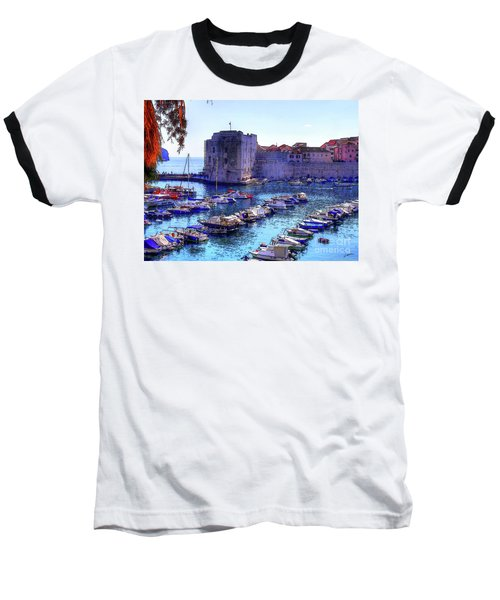 Dubrovnik Harbour Baseball T-Shirt