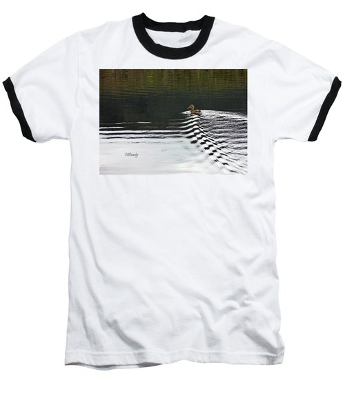 Duck On Ripple Wake Baseball T-Shirt