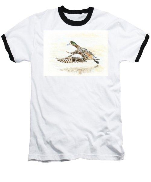 Duck Taking Off. Baseball T-Shirt