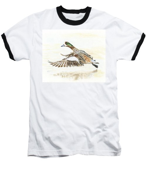 Duck Taking Off. Baseball T-Shirt