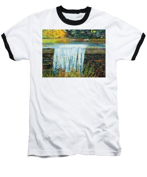 Ducks And Waterfall Baseball T-Shirt