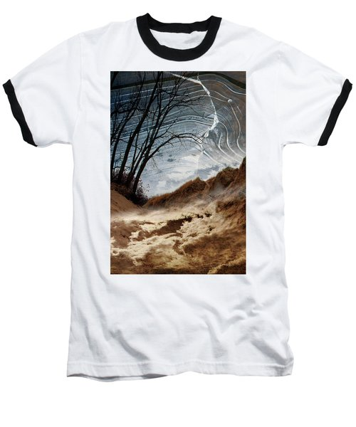 Dunes Baseball T-Shirt by Joan Ladendorf