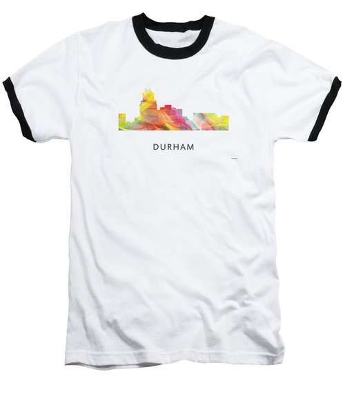 Durham North Carolina Skyline Baseball T-Shirt