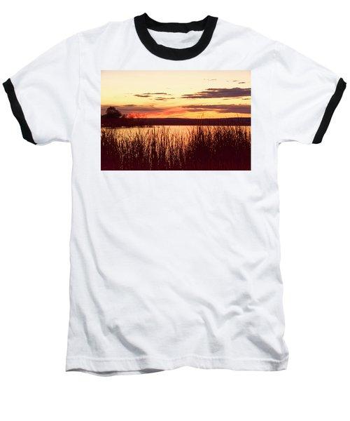 dusk on Lake Superior Baseball T-Shirt