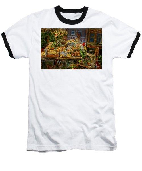 Dutch Shop Baseball T-Shirt by Sandy Moulder