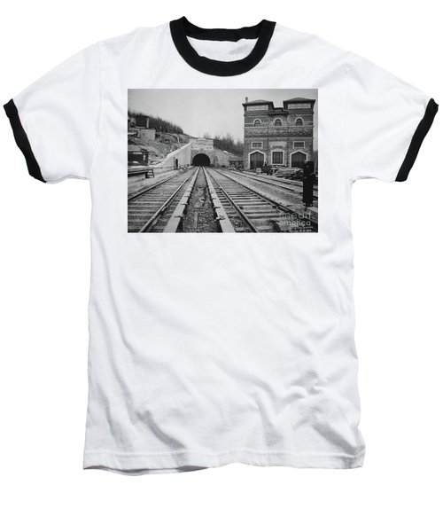 Baseball T-Shirt featuring the photograph Dyckman Street Station by Cole Thompson
