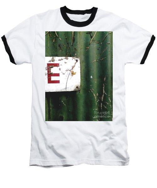 Baseball T-Shirt featuring the photograph E by Rebecca Harman