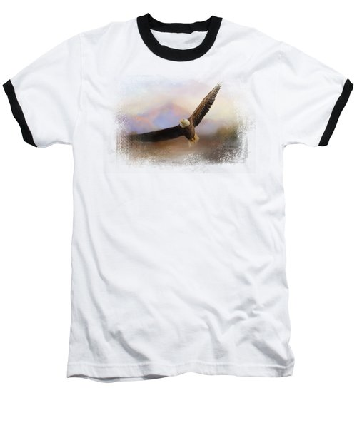 Eagle At The Mountain Baseball T-Shirt
