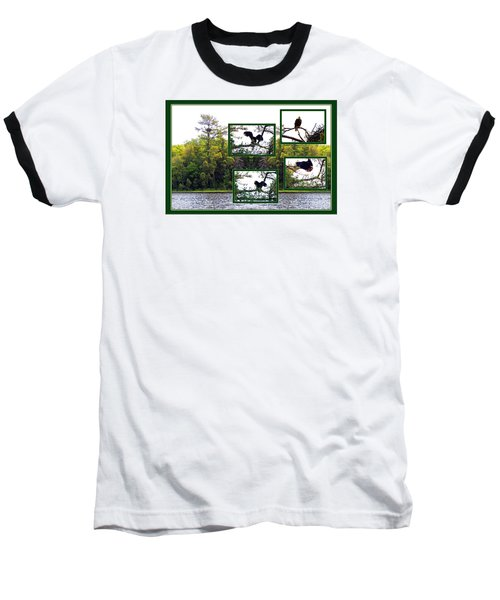 Baseball T-Shirt featuring the photograph Eagle Collage by Teresa Schomig