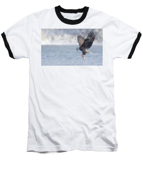 Eagle Fishing  Baseball T-Shirt by Kelly Marquardt