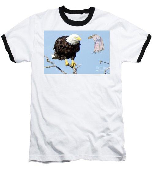 Eagle Reflection Baseball T-Shirt