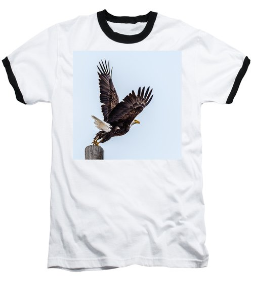 Eagle Taking Flight Baseball T-Shirt