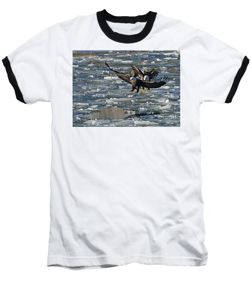 Eagles On Ice Baseball T-Shirt
