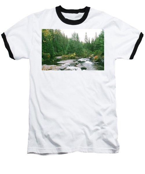 Early Autumn On The Madawaska River Baseball T-Shirt