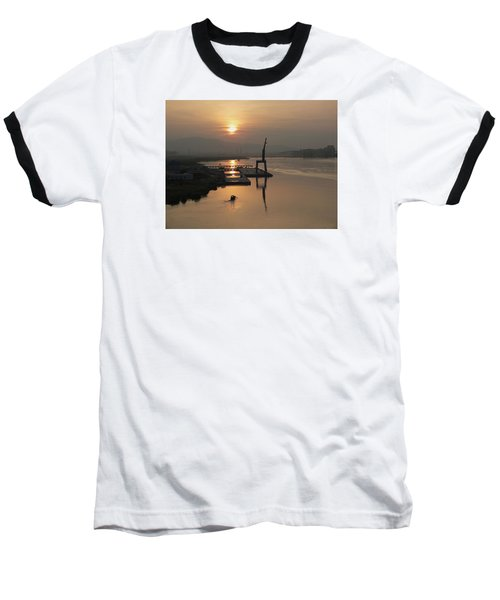 Baseball T-Shirt featuring the photograph Early Hour On The River by Lucinda Walter