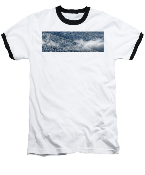 Early Morning After A Snowfall Baseball T-Shirt by Sebastien Coursol