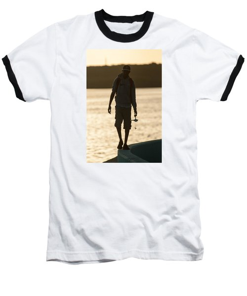 Early Morning Fishing Baseball T-Shirt