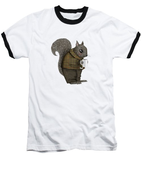Early Morning For Mister Squirrel Baseball T-Shirt by Little Bunny Sunshine