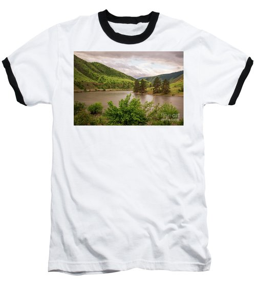 Early Morning Smoothy Waterscape Art By Kaylyn Franks  Baseball T-Shirt