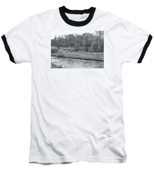 Early Spring In England Black And White Baseball T-Shirt