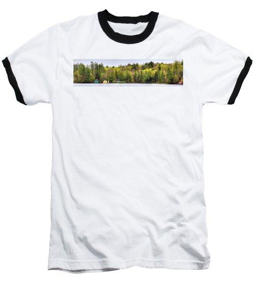 Early Spring Panorama Baseball T-Shirt by David Patterson