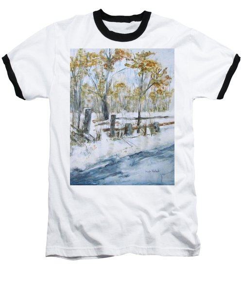 Early Spring Snow Baseball T-Shirt
