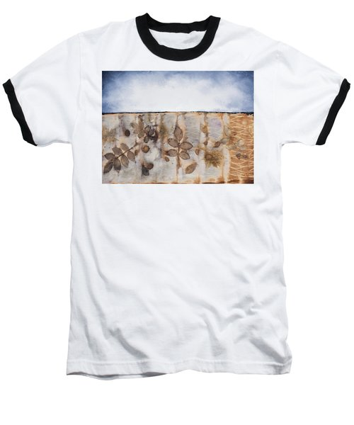 Earth And Sky II Baseball T-Shirt by Carolyn Doe