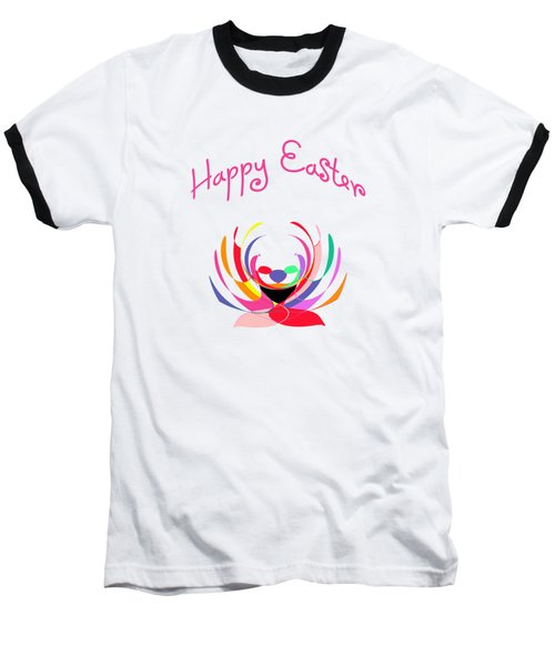 Easter Basket Baseball T-Shirt by Methune Hively