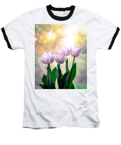 Easter Tulips Baseball T-Shirt
