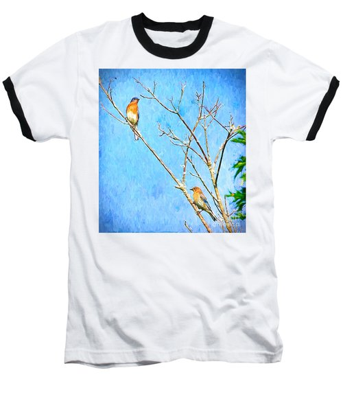 Eastern Bluebird Couple Baseball T-Shirt