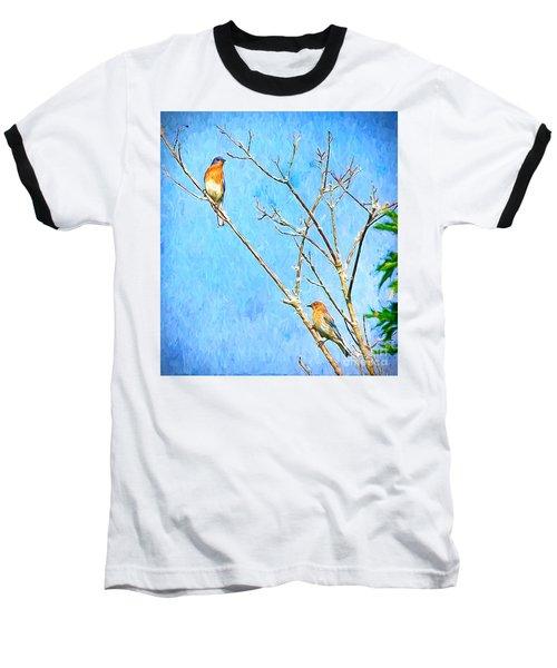 Eastern Bluebird Couple Baseball T-Shirt