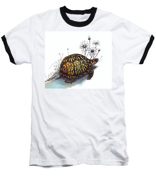 Eastern Box Turtle Baseball T-Shirt