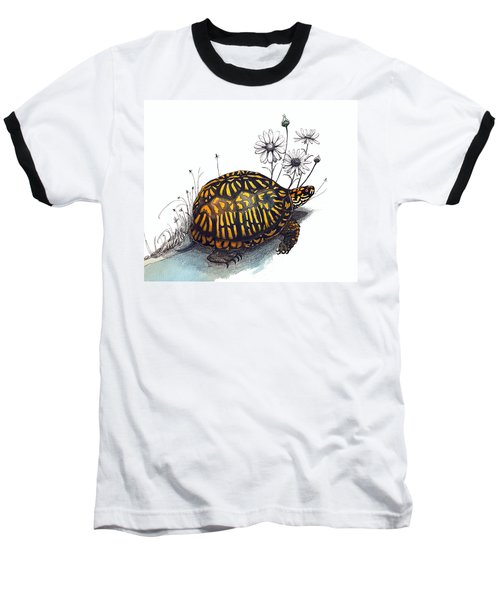 Eastern Box Turtle Baseball T-Shirt