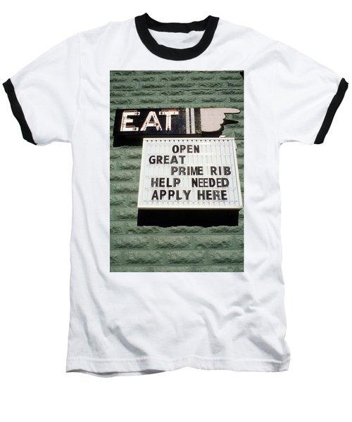 Eat Sign Baseball T-Shirt